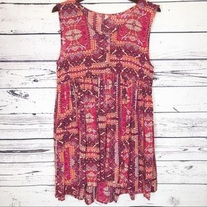 Anthropologie free people tribal print dress